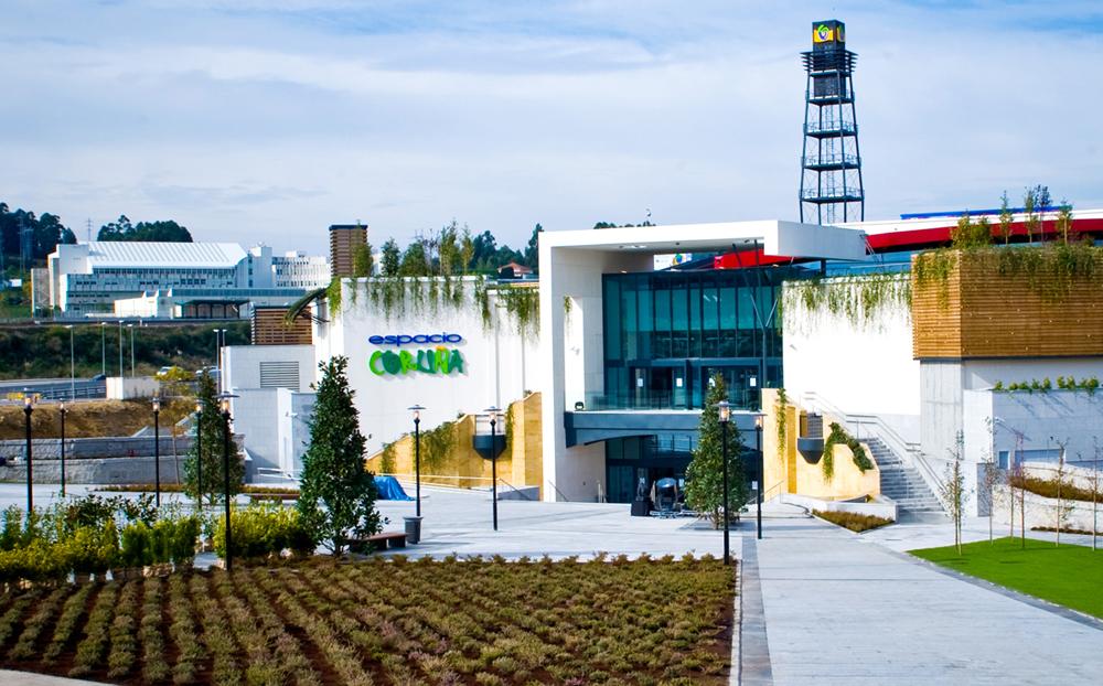A Coruña paisajismo centro comercial