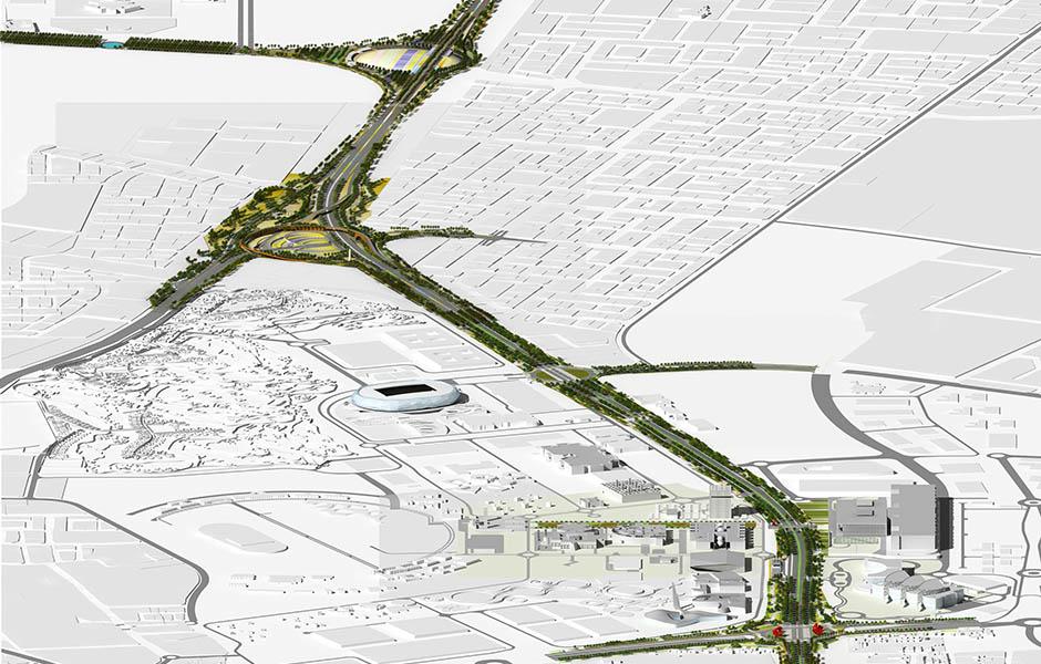 khalifa avenue streetscape design landscape