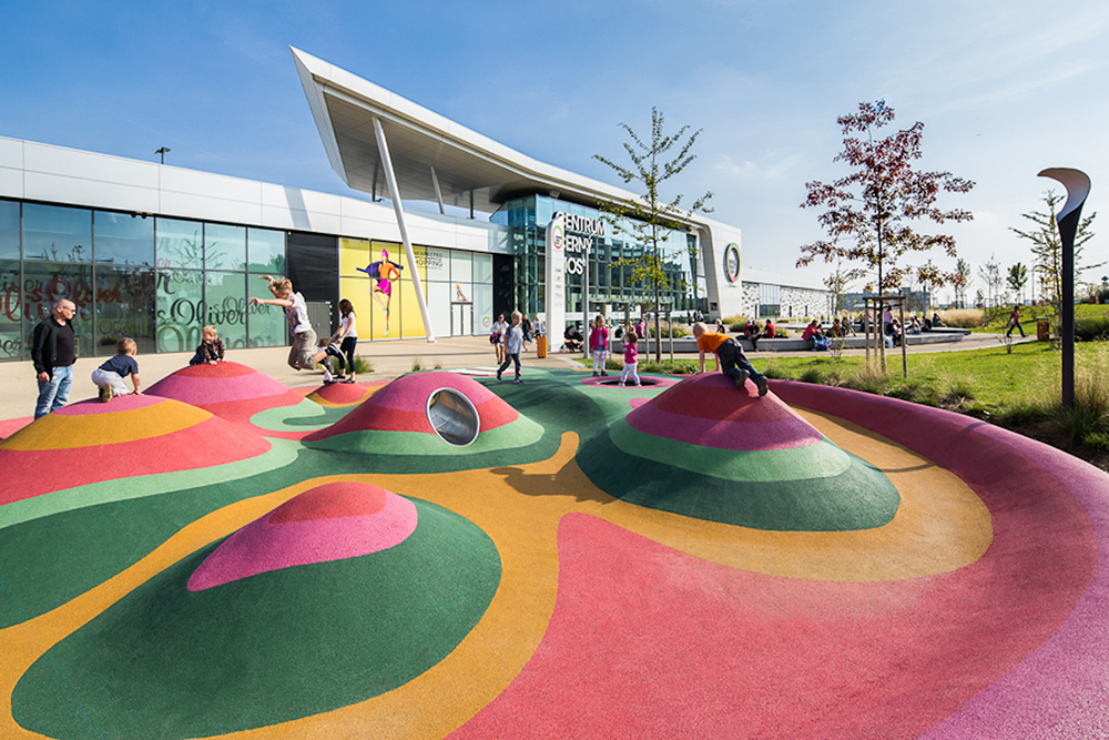 Cerny Most landscape design playground