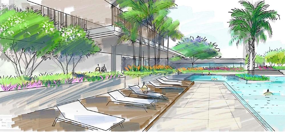 Al Burouj Sports club landscape design