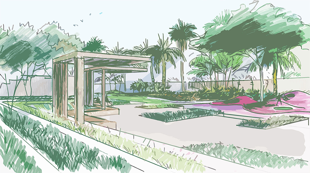 Al Burouj Landscape architecture design